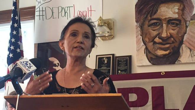 Theresa Navarro criticized Republicans over their inaction on immigration reform on June 23, 2016. Navarro said the Supreme Court's decision to overturn President Barack Obama's executive actions shielding nearly 5 million undocumented immigrants from deportation was the saddest day she can remember outside her son dying.