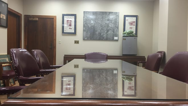 An empty board room awaiting members of one of the 471 board, commissions and task force operating in Louisiana.