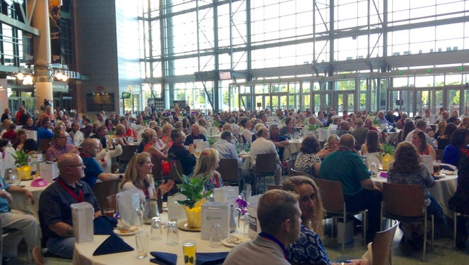 More than 300 guests attended the MDA Green Bay Muscle Team Gala to help raise $145,000 for the Muscular Dystrophy Association at the Lambeau Field Atrium on Thursday night, June 23..