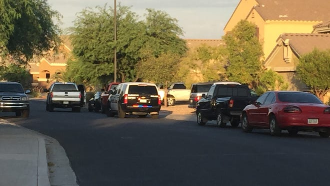 Buckeye police say a man is dead following a shootout with police.