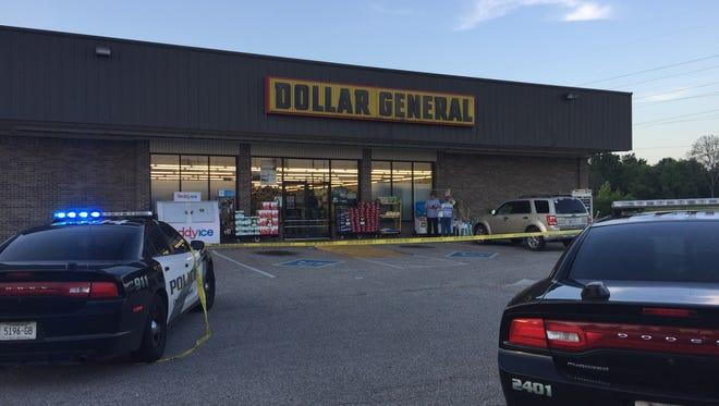A man robbed the Dollar General on Kenworth Drive Sunday, firing off several rounds in the store.