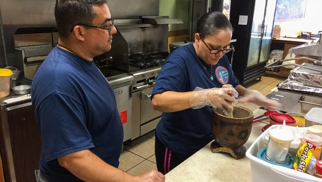 Angel Baez and his wife, Diana Baez, own Mi Cocina Latina, a Puerto Rican restaurant in Palm Bay. Angel Baez said he has noticed the increase in the local Hispanic population since he move here from New York City in 2010.