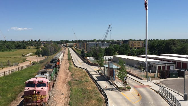A man was struck and killed by a train in Fort Collins near the 2200 block of South College Avenue on Sunday.