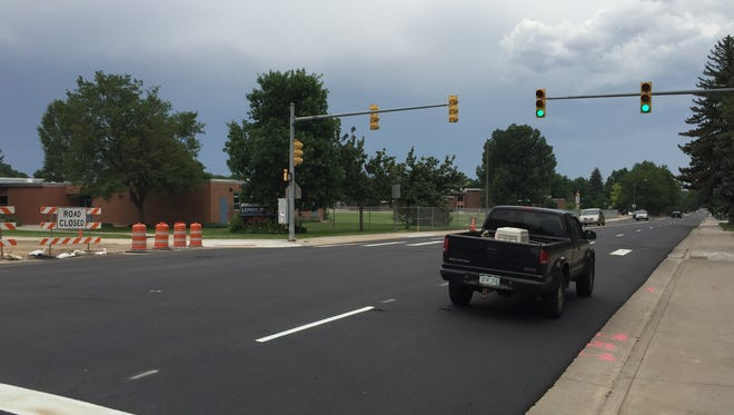 A freshly paved Prospect Road between Remington Street and Lemay Avenue reopened to through traffic Wednesday after three weeks of construction.