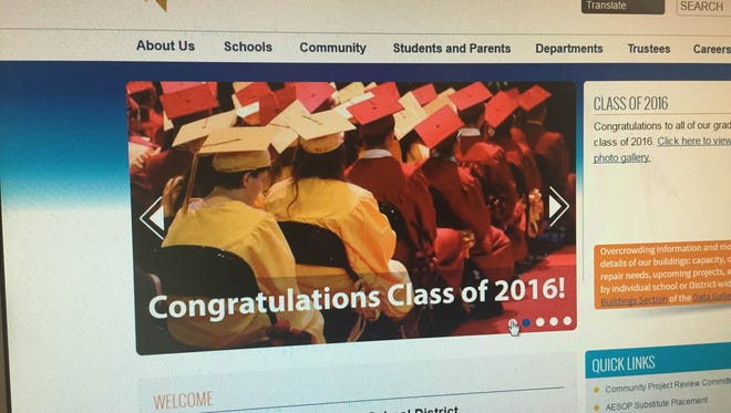 The homepage of the Washoe County School District website, washoeschools.net
