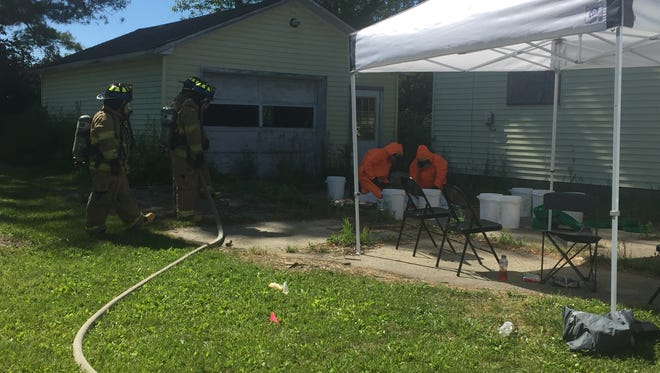 Meth lab seized in Port Huron Township on June 29, 2016