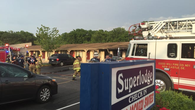 A fire was reported at the Superlodge near Holloway Terrace about 6:30 p.m. Friday.