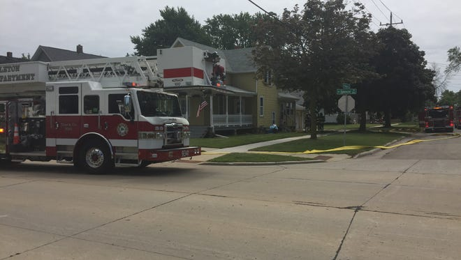 Appleton firefighters responded early Monday afternoon to a fire call in the 800 block of West Spencer Street.