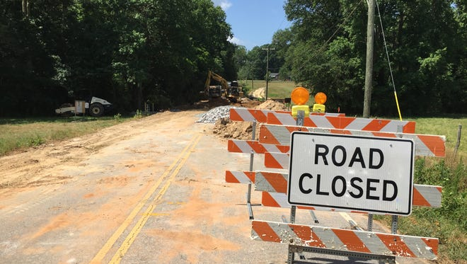Construction along a closed portion of Jonesville Road in Simpsonville is underway. A new culvert is being installed there.