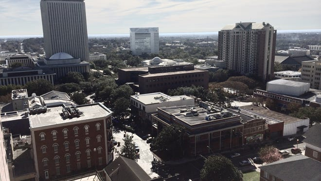 The downtown view from the Doubletree by Hilton