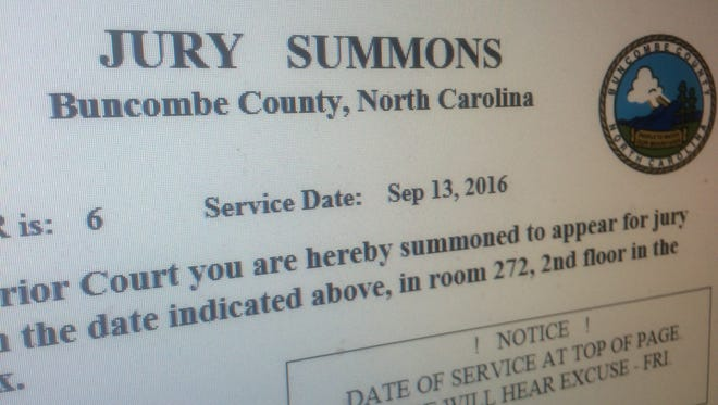 Buncombe County is revamping its jury summons notice to include the courthouse address.