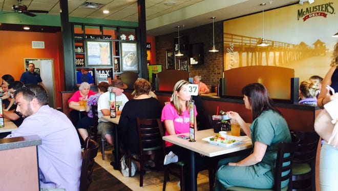 McAlister's Deli offers inside and outdoor dining.