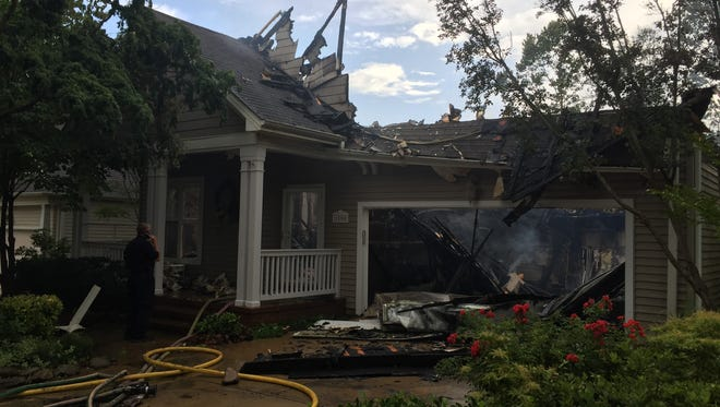Firefighters responded to this home in Biltmore Park Wednesday afternoon.