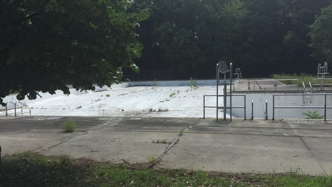 County-owned Sprain Ridge Pool has become a garden of weeds in this file photo.