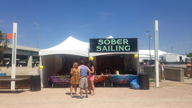 The Sober Sailing tent at Forecastle offers a safe space for those battling addiction.
