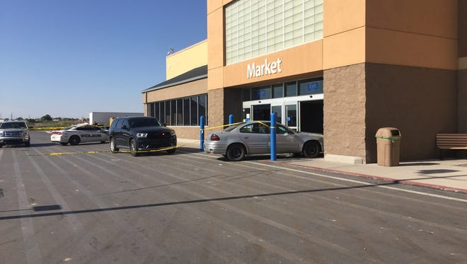 Two suspects were arrested followed by a chase, leading to crashing into a set of Wal-Mart's front doors.