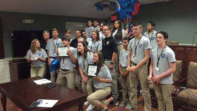 Members of the Simpsonville Police Department's first youth summer camp were honored during a graduation ceremony at City Hall Friday.