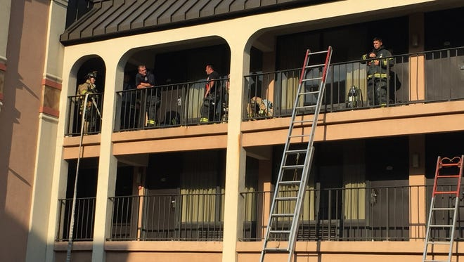 Crews respond to a reported kitchen fire at Days Inn at 900 Churchmans Road in Stanton.