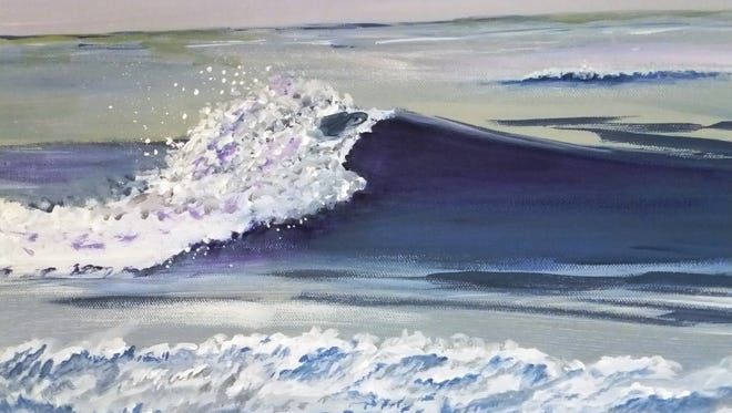 """""""Changing Tide"""" by Fran Schmid will be one of the pieces in the Wisconsin Regional Art Program annual exhibit at the Fond du Lac Public Library's Langdon Divers Gallery, Aug. 3 through Sept. 6."""
