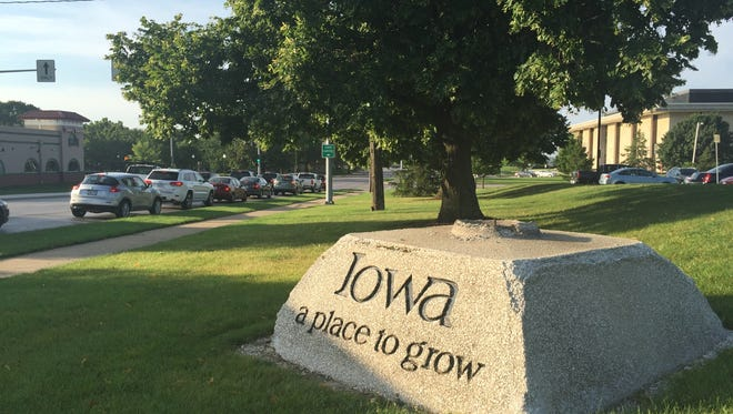 An iconic image of Iowa economic development is being dismantled on the Iowa Capitol grounds.  The top of the monument, which features a four-leaf clover, has already been removed. Plans call for state historical officials to take custody of the monument.