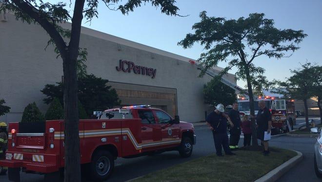 Christiana Fire Company respond to a freon leak inside a J.C. Penny located at Christiana Mall.