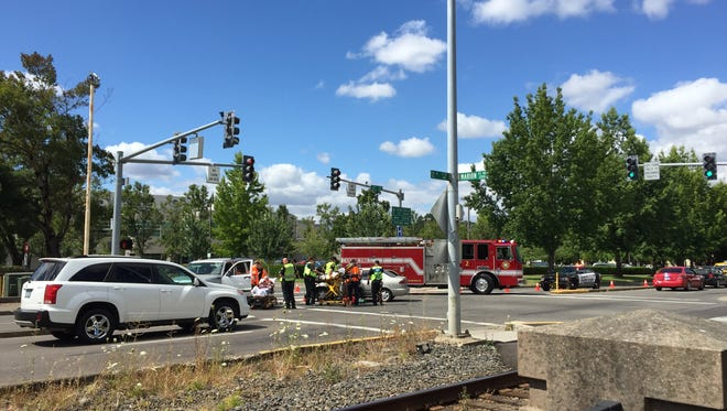 A crash on Marion Street NE closes lanes Tuesday afternoon.