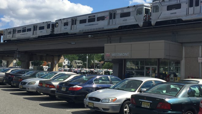Hundreds of vehicles can park at the Westmont station of  the PATCO Hi-Speedline, where electric car charges will be installed this month.
