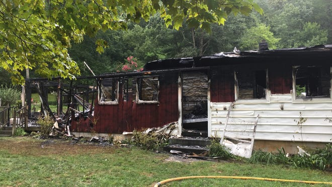 A home on Riddle Road in Swannanoa was destroyed Thursday morning after a fire broke out at 4 a.m.
