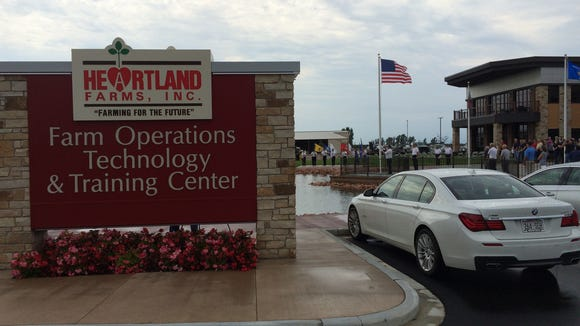 Heartland Farms marked the completion of its new farm operations, technology and training center in Hancock with a grand opening on Aug. 4, 2016.