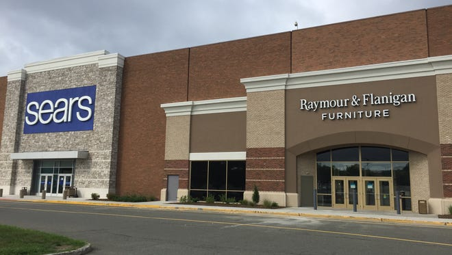 Separate entrances at Rockaway Townsquare mall for Sears and Raymour & Flanigan, which just leased 38,000 square feet on the first floor from the longtime mall anchor store.