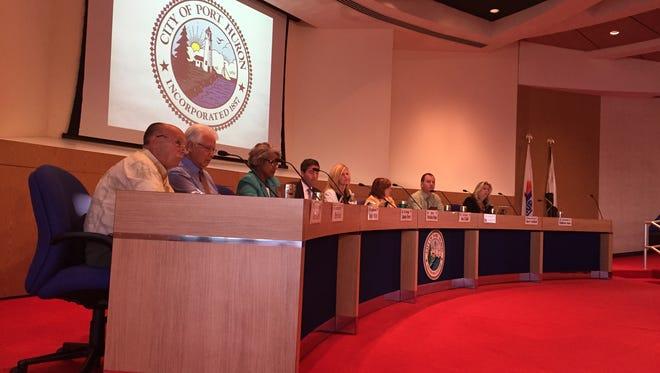 Port Huron City Council, Aug. 18, 2016.