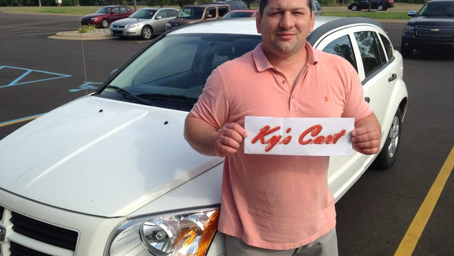 Cory Posey, 39, of Grand Ledge says his new delivery service, Ky's Cart, will offer residents in his community food and grocery delivery options available in places like East Lansing.