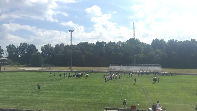 The Colonel Crawford Eagles hosted Tiffin Calvert in the first scrimmage of the summer on a beautiful Tuesday morning.