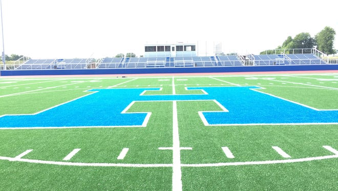 Highland installed a new artificial turf football/soccer field as well as a new eight-lane all-weather track this summer.