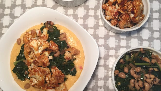 Southern summer bowl from V-Grits' new meal kit service, which delivers to Music City.