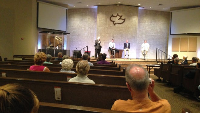 The four candidates vying for two candidates on the Canaveral Port Authority board of commissioners addressed nearly 90 people at a candidates forum Tuesday night on Merritt Island.