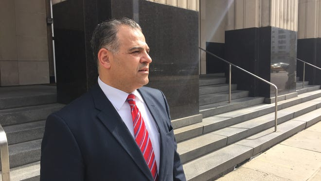 Khalid Turaani, CEO of Life for Relief and Development, a charity headquartered in Southfield, outside U.S. District Court in Detroit