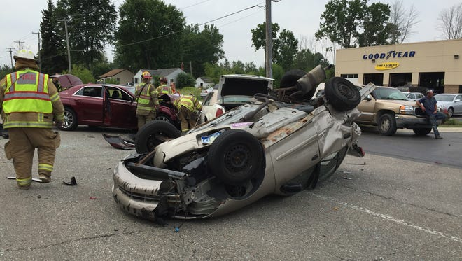 Seven people were injured in a crash in Kimball Township this morning.