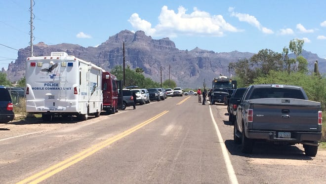 "A suspect was shot as Maricopa County Sheriff's Office deputies and state Department of Public Safety troopers were serving a ""high-risk"" warrant about 9 a.m. Aug. 16, 2016."