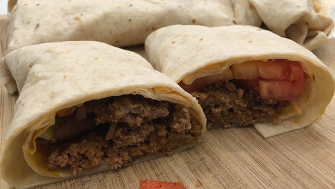 Whopperrito cross section.
