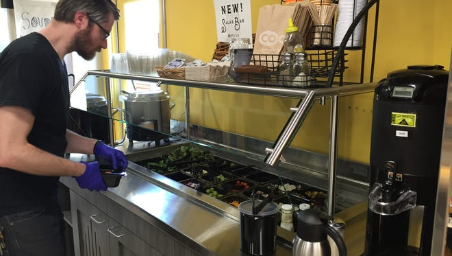 Co-op Natural Foods has added a salad bar with local and organic items.