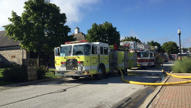 Port Huron firefighters respond to a structure fire on Thomas Edison Parkway.