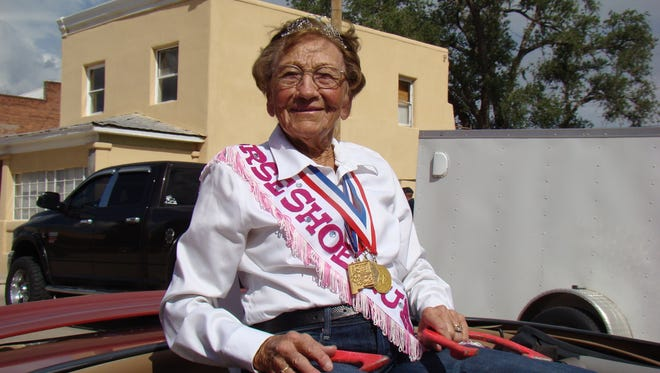 Dorothy Leslie Payne was the Grand Marshal of the parade in Carrizozo Saturday.