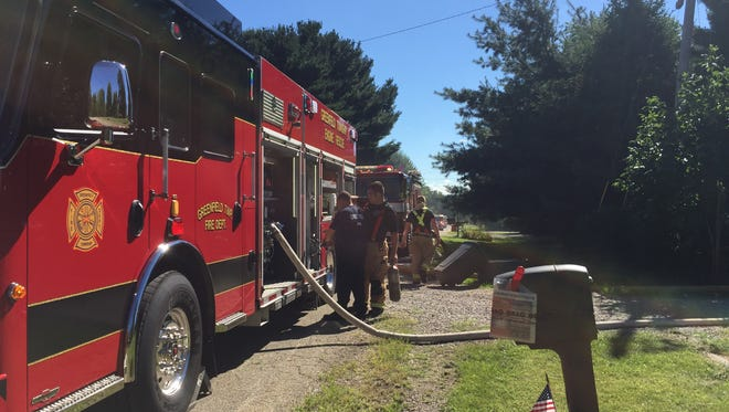 Firefighters from multiple departments responded to a fire Monday at 915 Layne Drive NE in Lancaster.