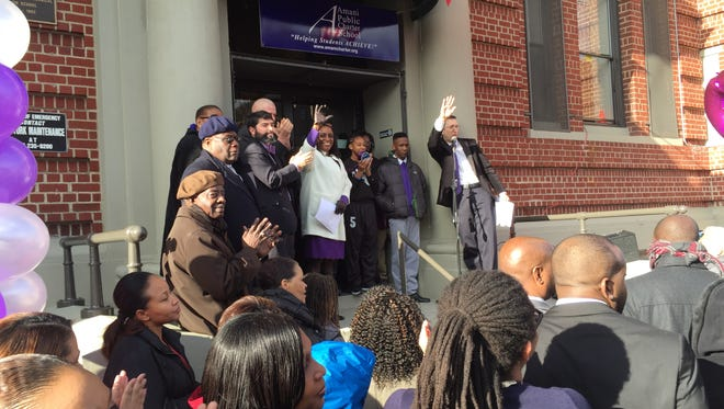The Amani Public Charter School in Mount Vernon moves into its permanent home on South Third Avenue in 2015.