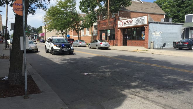 A child was hit by a black SUV while crossing University Avenue near 23rd Street Tuesday.