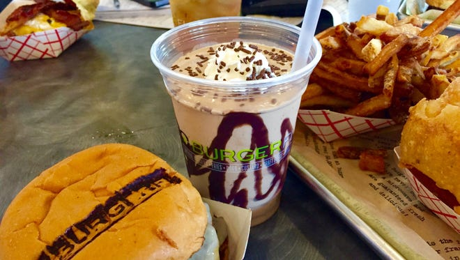 Burger Fi offers shakes, burgers, onion rings, fries and more.