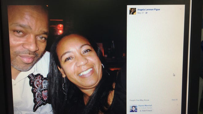 Cedric and Angela Pigue. Police say Cedric shot Angela, then killed himself Tuesday morning.