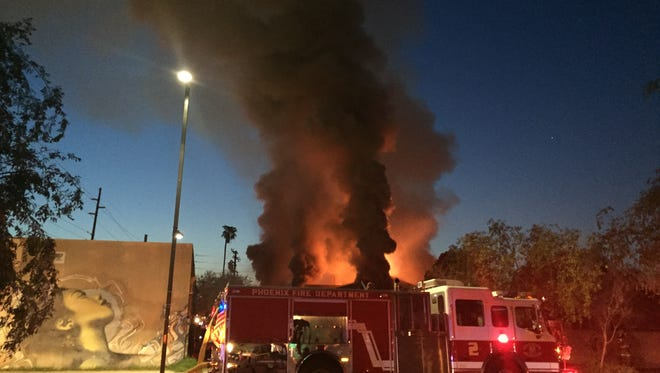 Phoenix firefighters responded about 5:20 a.m. to a fire at Think! Graphic and Printing Solutions, 917 N. Fifth Street near Roosevelt Street.