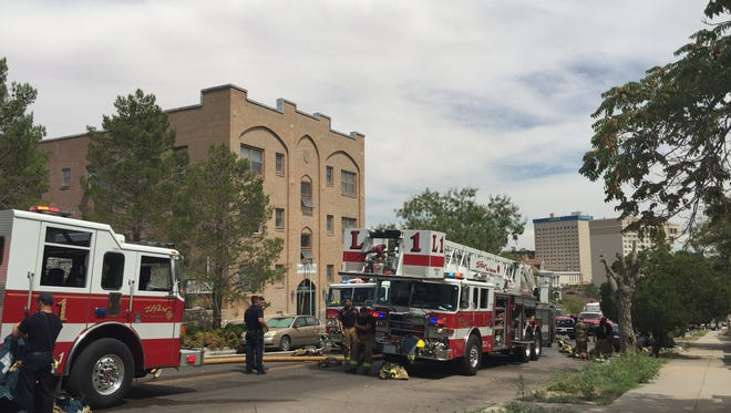 The El Paso Fire Department responded to a fire Thursday at the Ramey Apartments in Sunset Heights near Downtown.